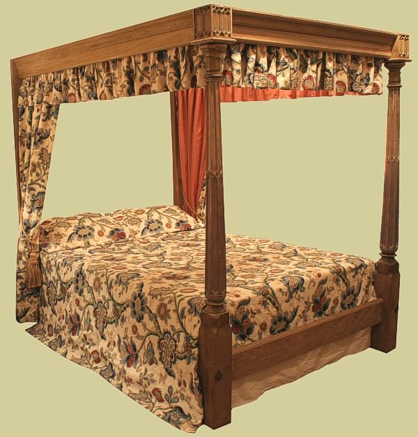 17 best images about oak beds reproduction on pinterest for Gothic style bed