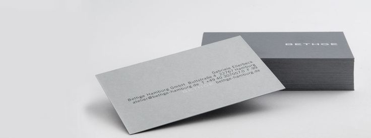 Bethge | Business cards designed and printed in Bethge's silkscreen studio.