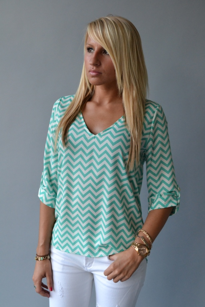 Not sure how the stripes would look or if the shirt would be see through but I like the color
