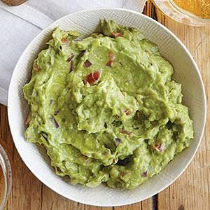 Guacamole was concocted by the Aztecs over 400 years ago. Since then it has become an American party-food favorite and restaurant menu staple. Tortilla chips are the natural accompaniment, but you can also serve it with veggies like jicama, bell peppers, and radishes.