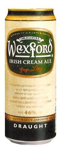 Cerveja Wexford Irish Cream Ale, estilo Cream Ale, produzida por Greene King, Inglaterra. 5% ABV de álcool.
