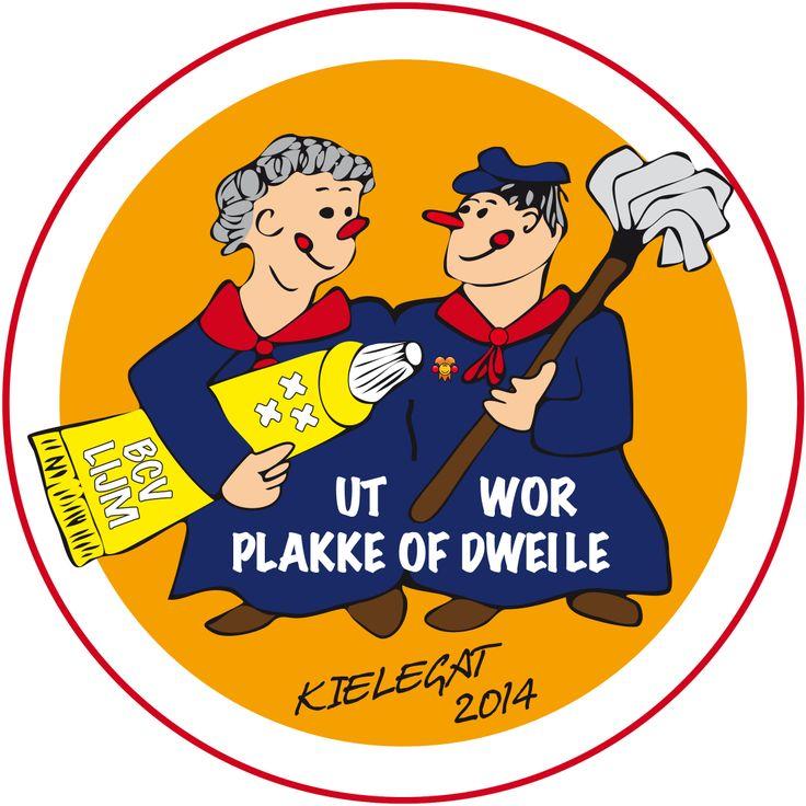 """Het logo van 2014 """"twor Plakke of dweile"""""""