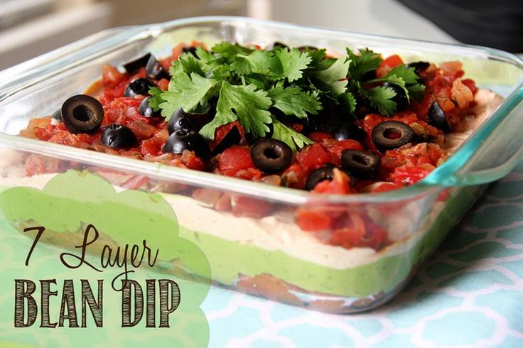7 Layer Bean Dip: Chicken Recipes, Yummy Food, Beans Dips, Yum Yum, Layered Dips, Chee Layered, Layered Beans, Yummy Treats, Food Items