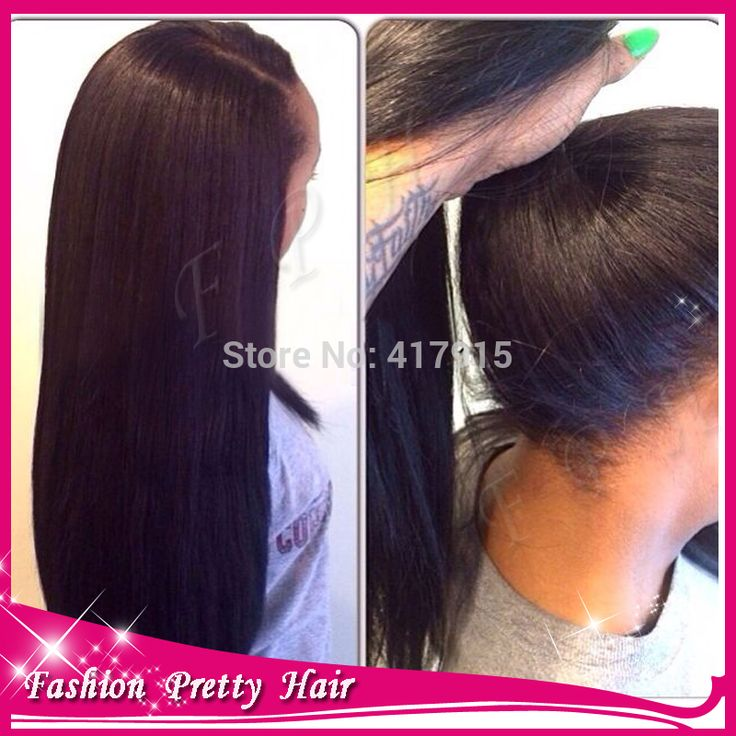 NEW High Ponytail Virgin Brazilian Silky Straight Full Lace Wig Glueless Long Straight Full Lace Human Hair Wigs For Black Women-in Wigs from Beauty & Health on Aliexpress.com | Alibaba Group
