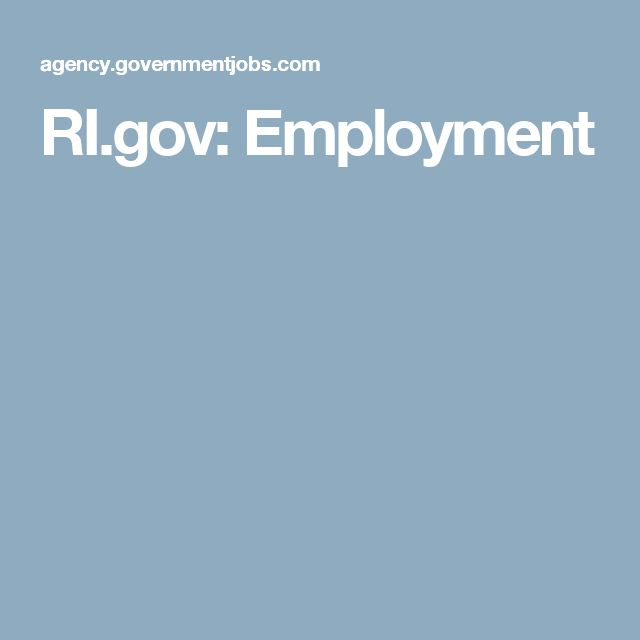 RI.gov: Employment