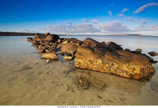 Aboriginal Stone Fish Trap  Port Lincoln, South Australia  Lincoln National Park    Stone fish trap sites provide a rare glimpse into the fabric of past Aboriginal society.
