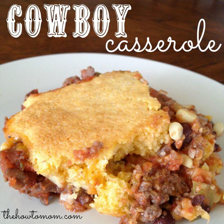 Cowboy Casserole with Cornbread Topping on MyRecipeMagic.com