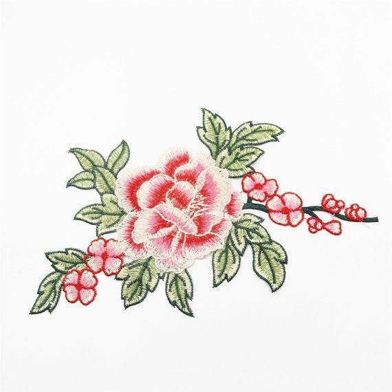 Floral Patch stoffen rozen geborduurde stoffen Patch stof