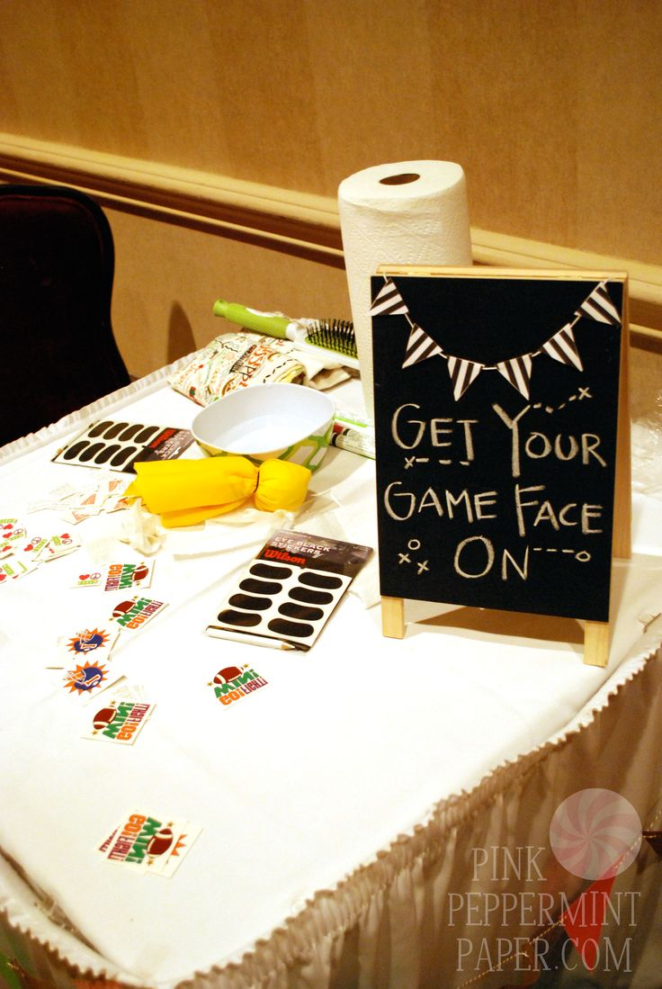 Game Face Football Party Station on PinkPeppermintPaper.com