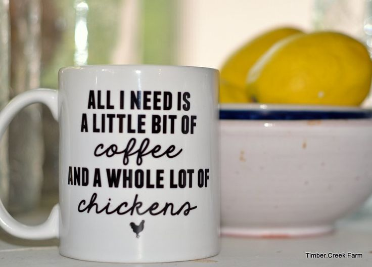 Farmhouse Printables coffee mugs with fun sayings including ones about chickens and farm life. Other inspiring quotes available too Awesome friend gifts