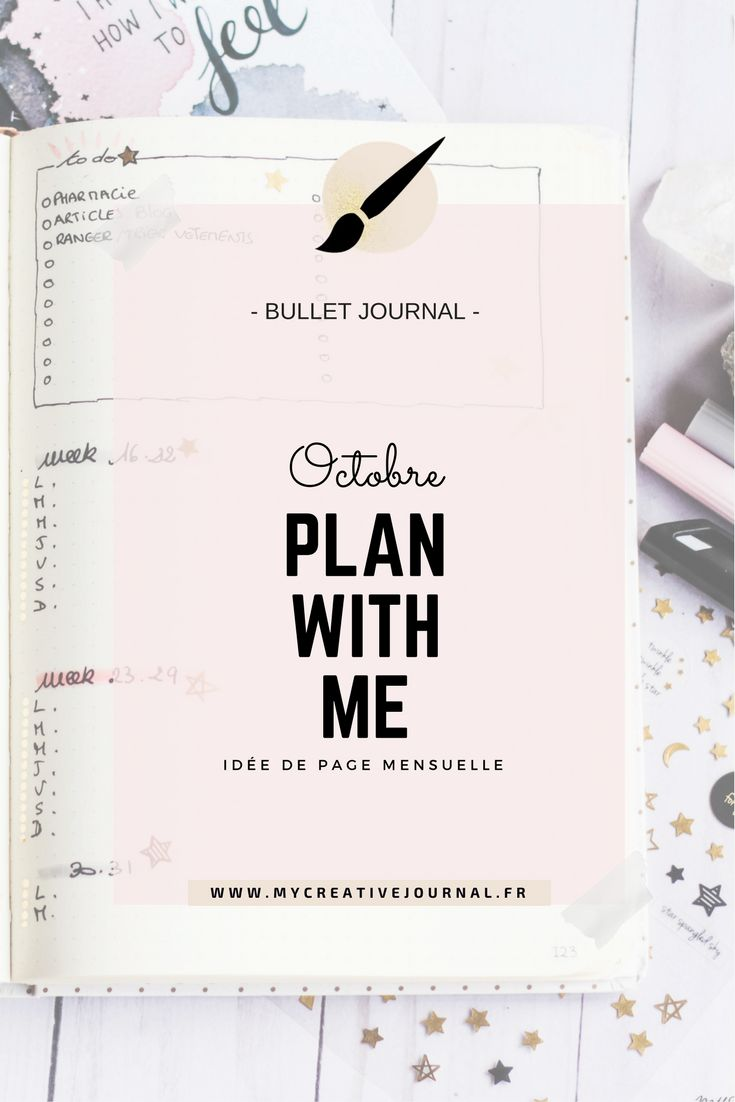 Bullet journal : Plan with me // Octobre