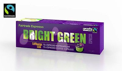 Löfbergs Lila Bright Green Espresso 10 Coffee Capsules Caffitaly Made in Sweden