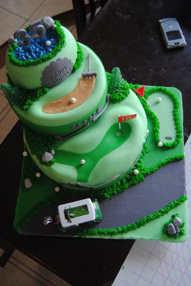 Golf Course Multi-Scene Cake
