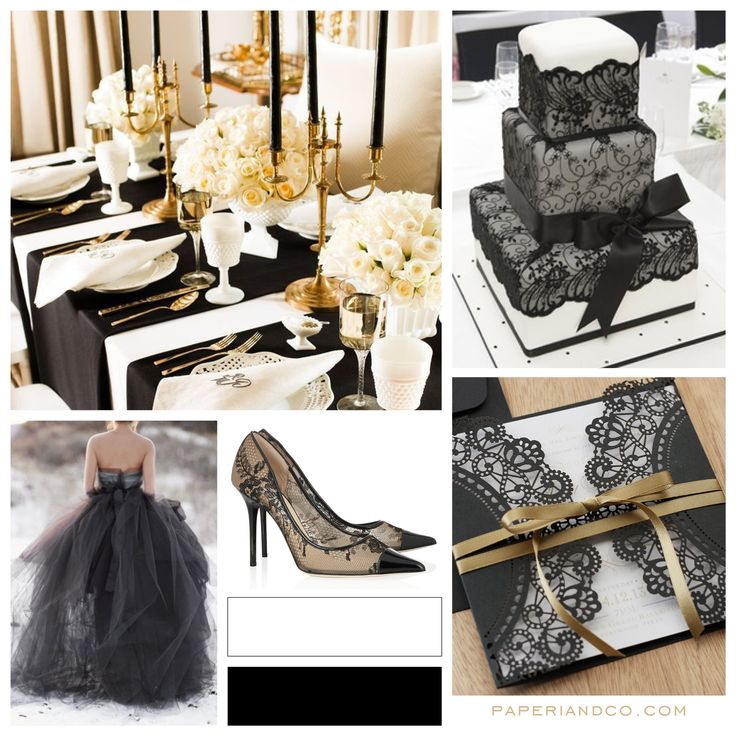Paperi & Co. | Black Wedding Theme