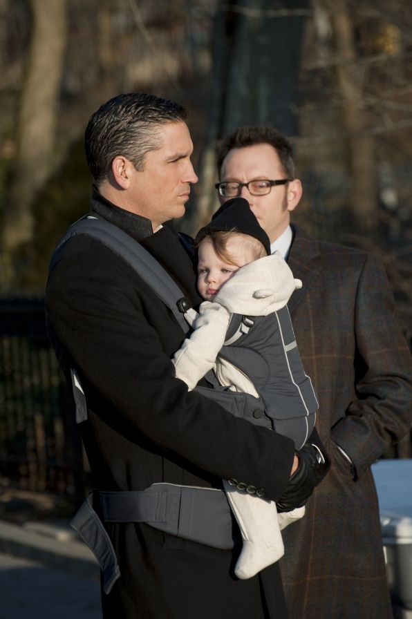 Reese and Finch with the baby  Season 1   Episode 17