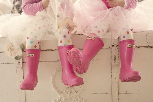 Hunter Original Kids' Wellington Boots - Fuchsia http://www.countryattire.com/hunter-original-kids-wellington-boots-fuchsia.html