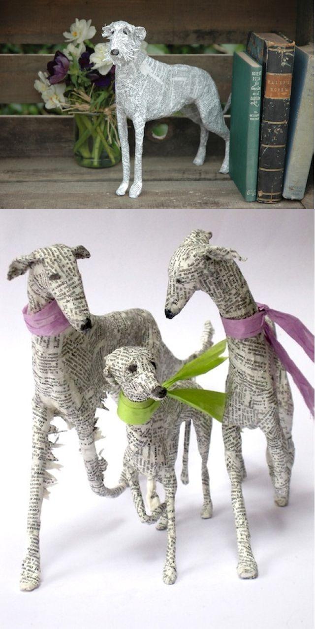 Papier-Mache Dogs by Lorraine Corrigan