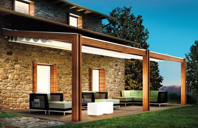 Pergola bois design home outdoor pinterest moderne - Difference balcon terrasse ...