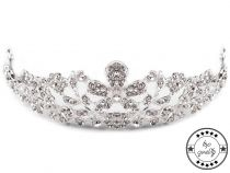 Bridal Rhinestone Tiara with Loops