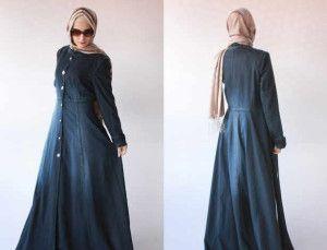Jual Baju Muslim Shakila Maxi Jeans Wash Murah   kaoskeren.net