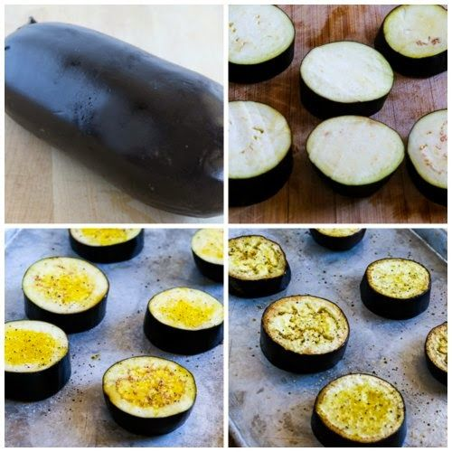 Roasted Eggplant Slices with Mediterranean Salsa (Low-Carb, Paleo, Gluten-Free, Meatless)