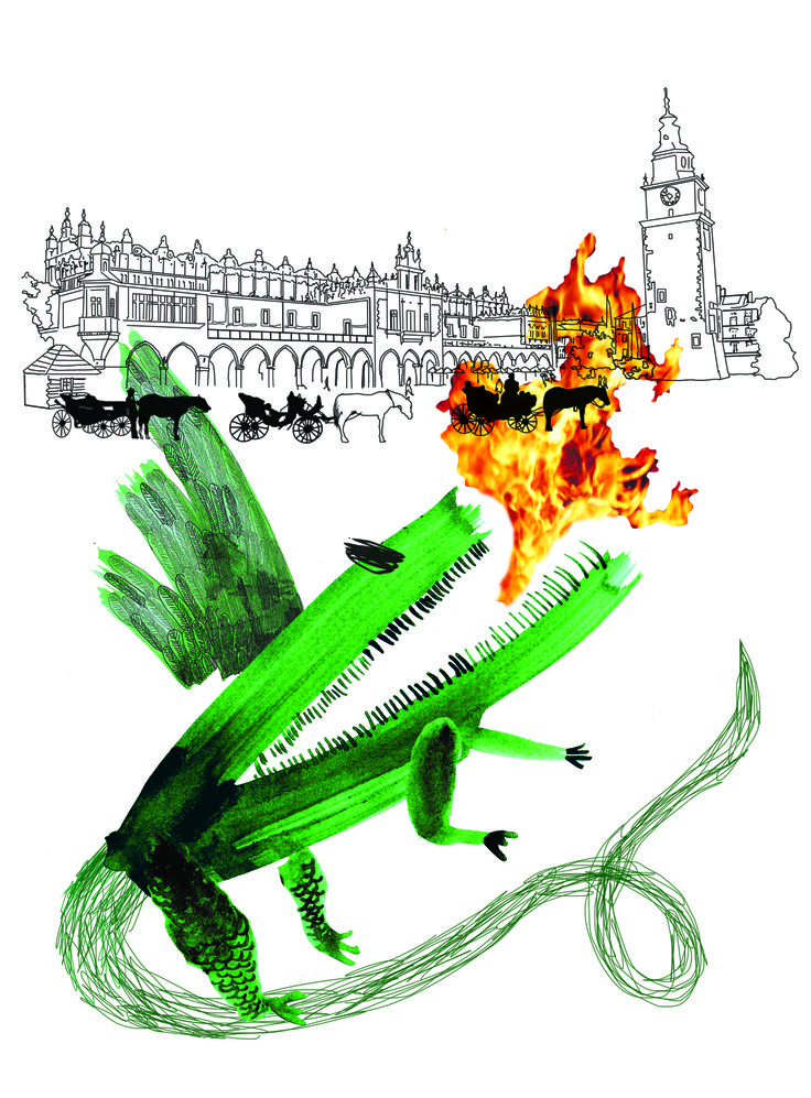 """Wawelski Dragon"", illustration, 2011, http://www.elizadanowska.pl/"