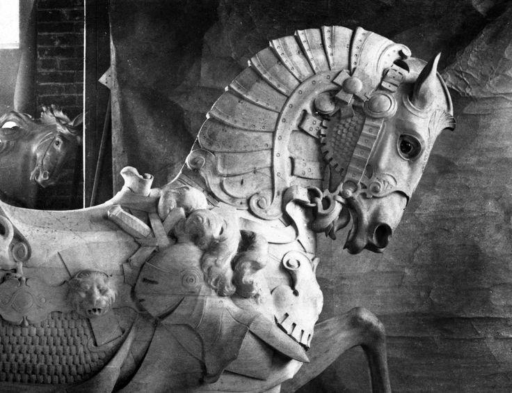 D Muller Shop Armored Carousel Horse ca 1910