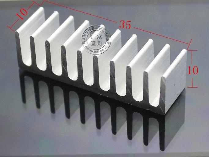 Fast Free Shipping 50pcs/lot Aluminum radiator chip cooler 10*35*10MM Pure aluminum heat sink /IC Heatsink
