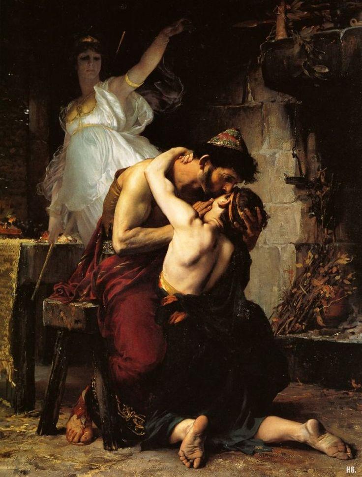 The Reunion of Odysseus and Telemachus. winner Prix de Rome. 1880. Henri Lucien Doucet.
