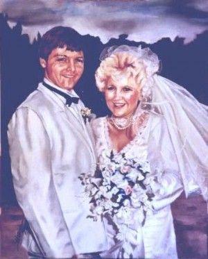 Wedding day, Peter Dixon.  60cm x 80cm, oil on canvas. Phil Carrero.
