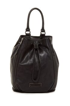 Liebskind Berlin Gaya Leather Zip Drawstring Backpack