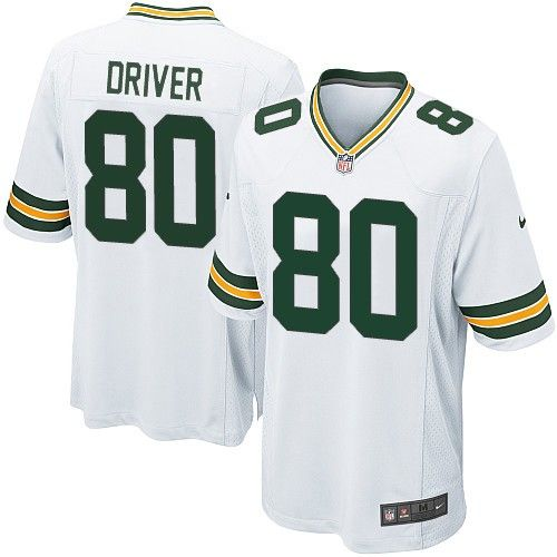 Nike Elite Green Bay Packers Donald Driver 80 White NFL Jersey for Sale Sale