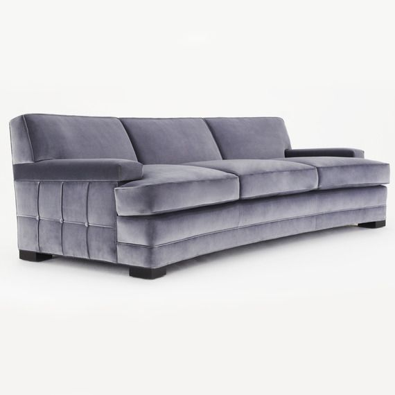 Buy 50's inspired curved sofa by denman design   sofas   seating ...