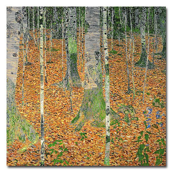 Gustav Klimt 'The Birch Wood' Canvas Art - Overstock Shopping - Top Rated Canvas