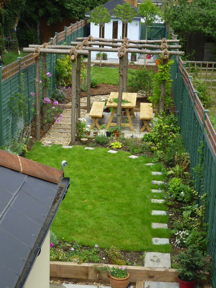 25 best ideas about narrow garden on pinterest small for Small garden design