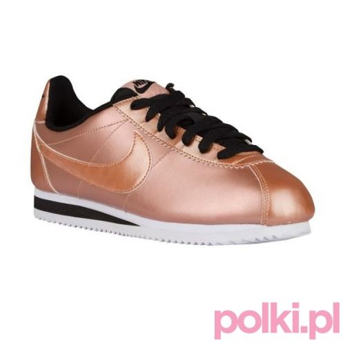 #shoes #gold #buty #nike #nikecortez #polkipl