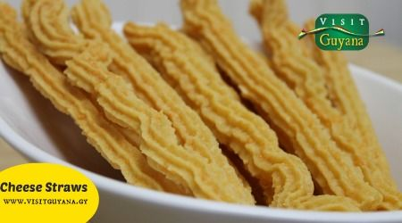Cheese straws is a thin strip of pastry, flavoured with cheese and eaten as a snack.