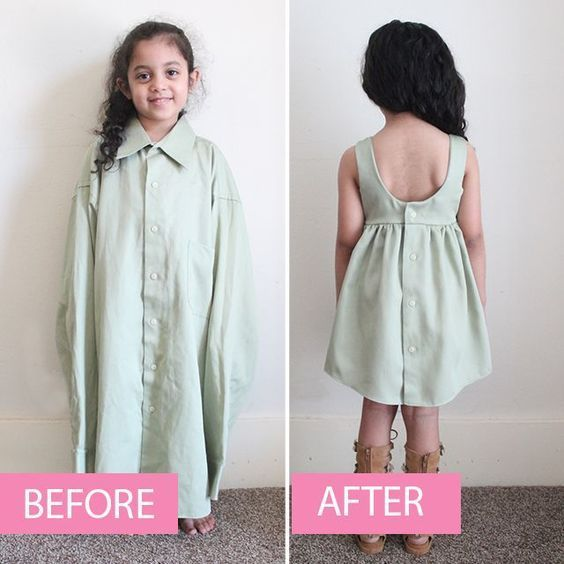So erstellen Sie ein LINED-Kleinkindkleid aus einem Erwachsenen-Shirt