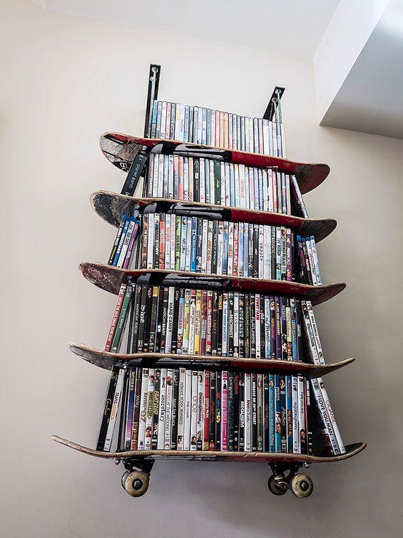 Wall Hanging Skateboard Shelf by 3hCreatives on Etsy