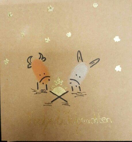 Weihnachtskarte Fingerabdruck