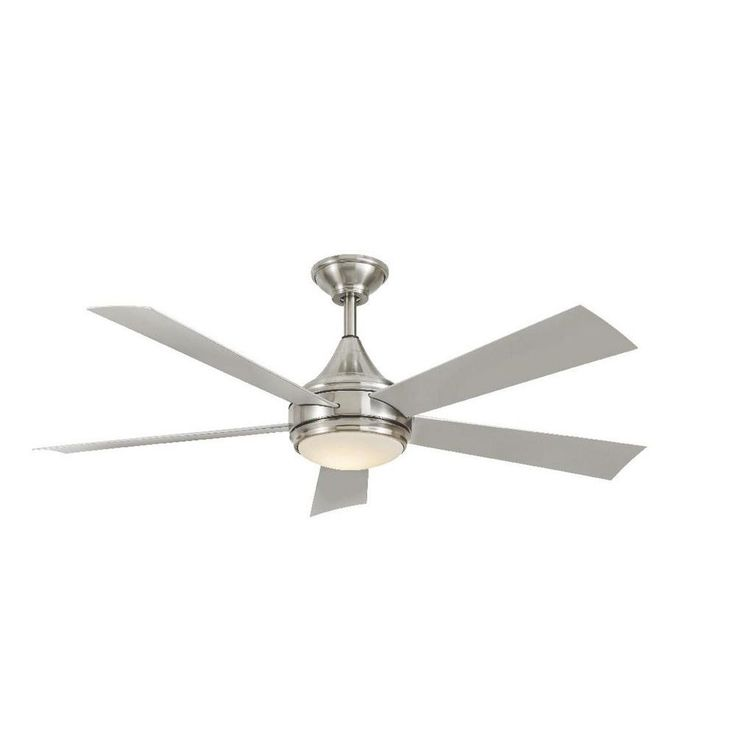 Home Decorators Collection Hanlon 52 in. LED Indoor/Outdoor Stainless Steel Brushed Nickel Ceiling Fan