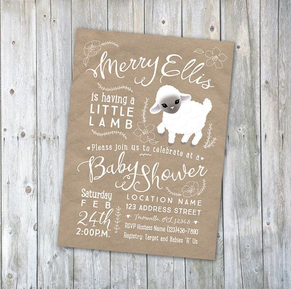 4b3cec4e27180fbd189e9d2d39ee727b lamb themed baby shower ideas little lamb baby shower ideas best 25 lamb baby showers ideas on pinterest,Lamb Themed Baby Shower Invitations