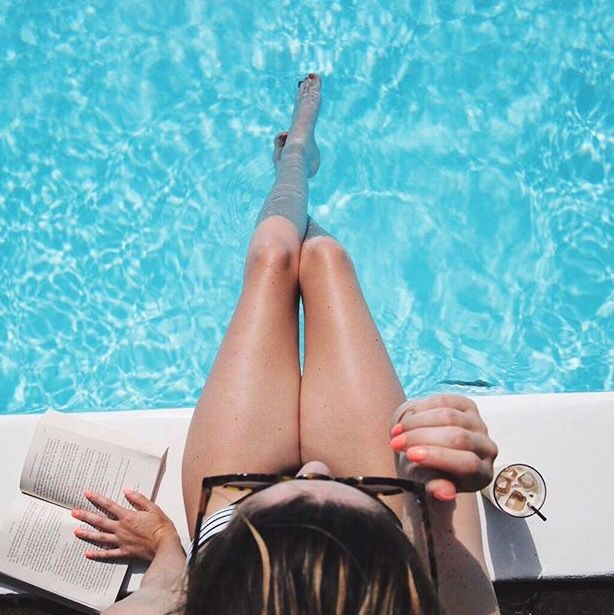 "tessgraystairs: "" ""zoella: Had the most relaxing day by the pool "" """