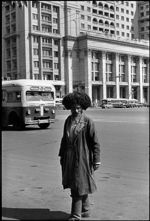 SOVIET UNION. Moscow. 1954. A man from the Caucasus region in front of the Hotel Metropol. by Henri Cartier-Bresson