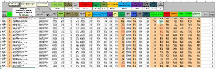 Ebay Sales Tracking Spreadsheet