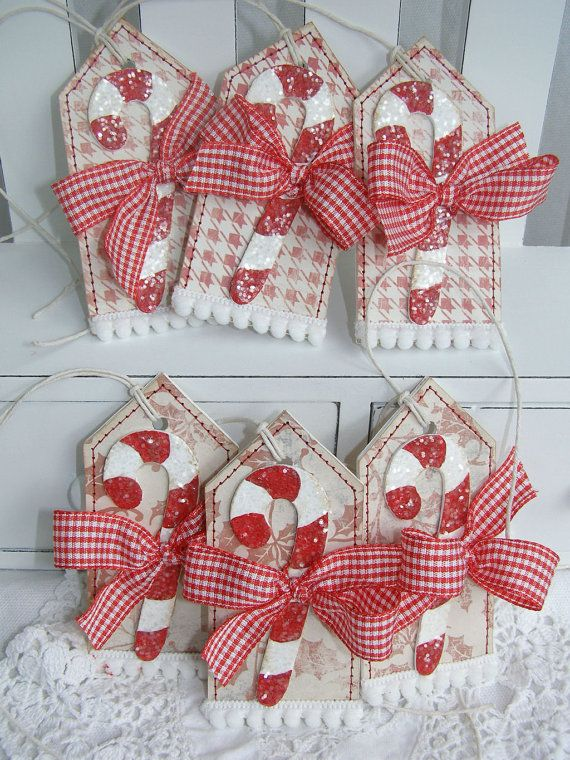Candy Cane Christmas Holiday Gift Tags