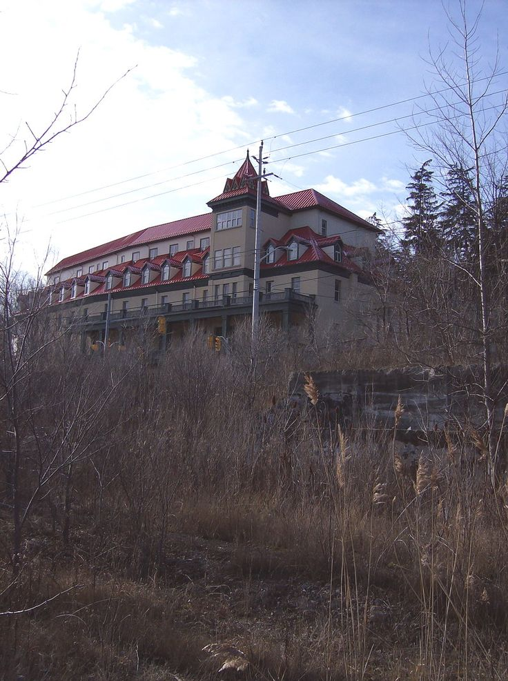 Preston Springs Hotel, Cambridge, Ontario, Canada...my Grandma lived in Preston and we drove by this hotel every other weekend to and from her place - it didn't look as spooky as this pic makes it look...
