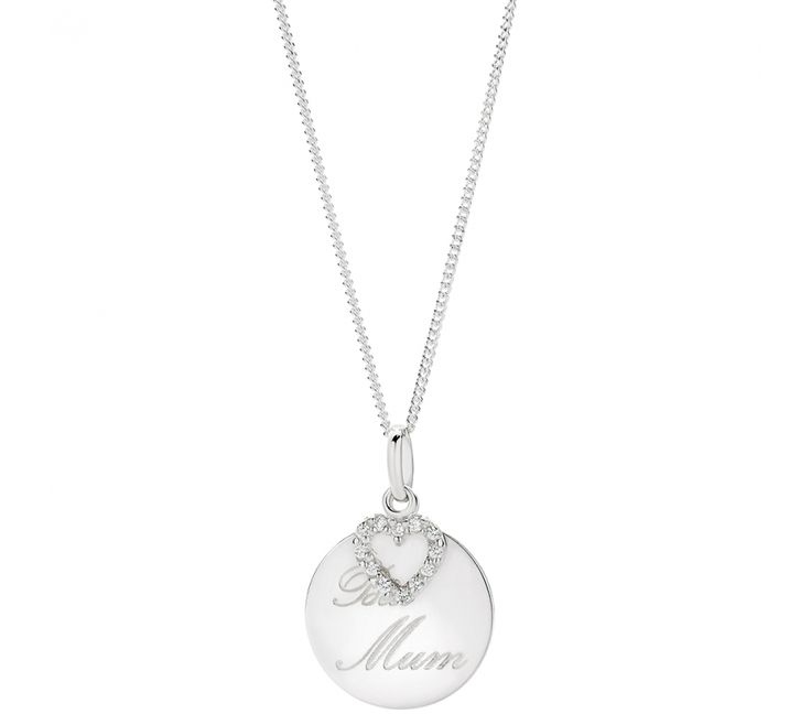 Sterling Silver Disc on Variable Chain, Pendants, SJ3281