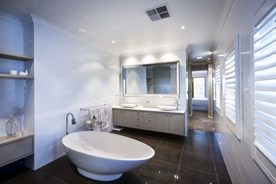 Add a touch of drama with a free standing bath