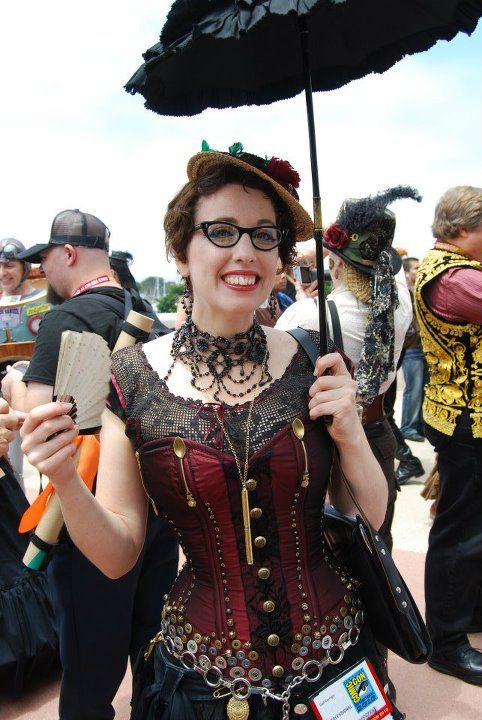 Retro Rack: Comic Con Outfits ~ Day Three Steampunk. Gail Carriger (pictured) is a fantastic author